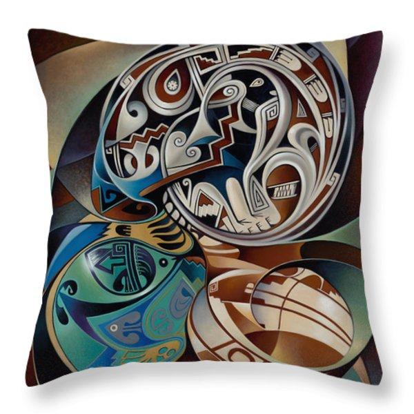 Dynamic Still Il Throw Pillow by Ricardo Chavez-Mendez