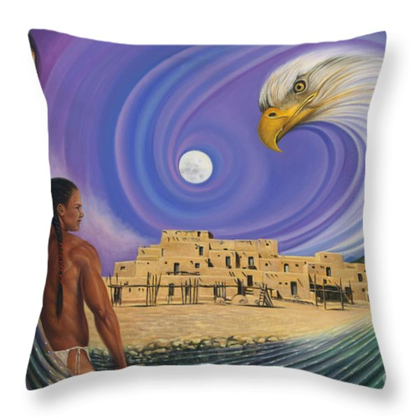 Dynamic Taos I Throw Pillow by Ricardo Chavez-Mendez