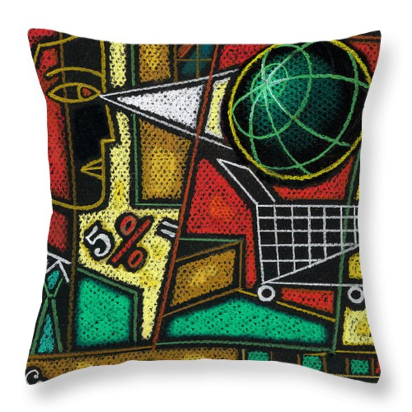 E-commerce Throw Pillow by Leon Zernitsky