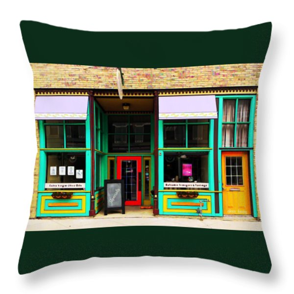 E V O O Store Throw Pillow by Chris Berry