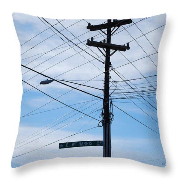 E WT Harris Blvd - Charlotte Throw Pillow by Paulette B Wright