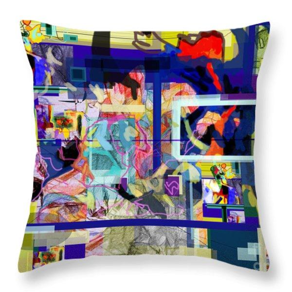 Each Positive Step is Vital 2 Throw Pillow by David Baruch Wolk