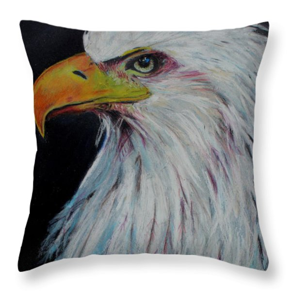 Eagle Eye Throw Pillow by Jeanne Fischer