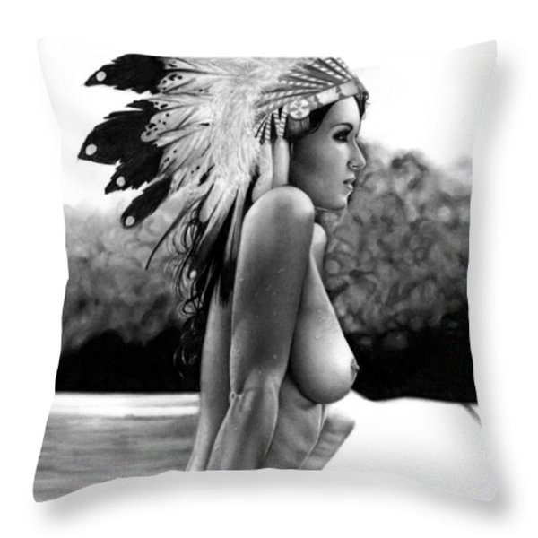 Eagle Throw Pillow by Pete Tapang