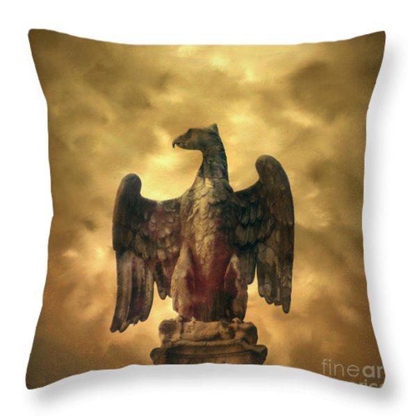 Eagle sculpture Throw Pillow by BERNARD JAUBERT