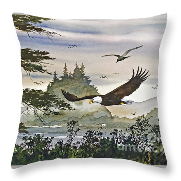 Eagles Majestic Flight Throw Pillow by James Williamson