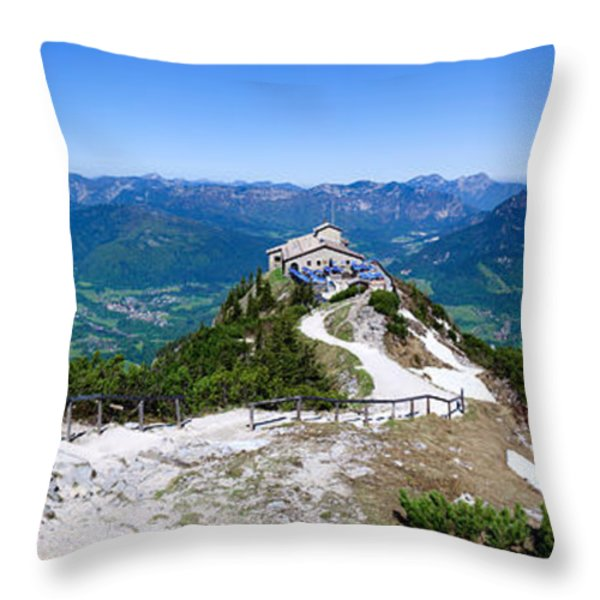 Eagle's Nest Throw Pillow by Dave Bowman