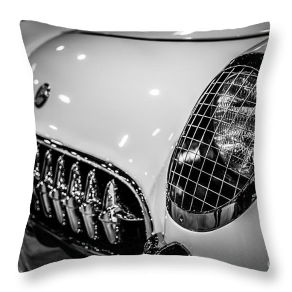 Early 1950's Chevrolet Corvette C1 Throw Pillow by Paul Velgos