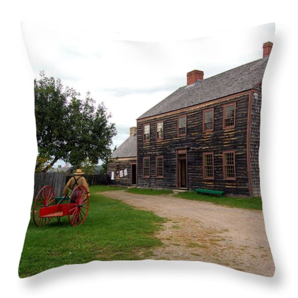 Early America Throw Pillow by Ron Haist