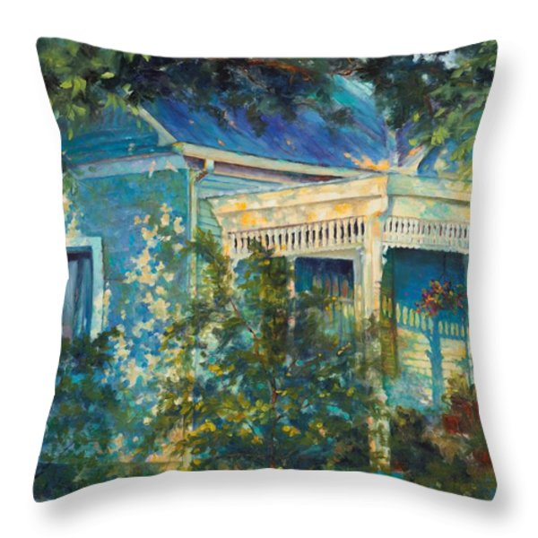 Early Evening Stroll Throw Pillow by Chris Brandley