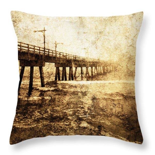 Early Morning 5 Throw Pillow by Skip Nall