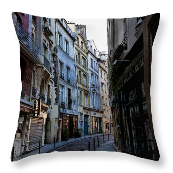 Early Morning In The Latin Quarter Throw Pillow by Evie Carrier