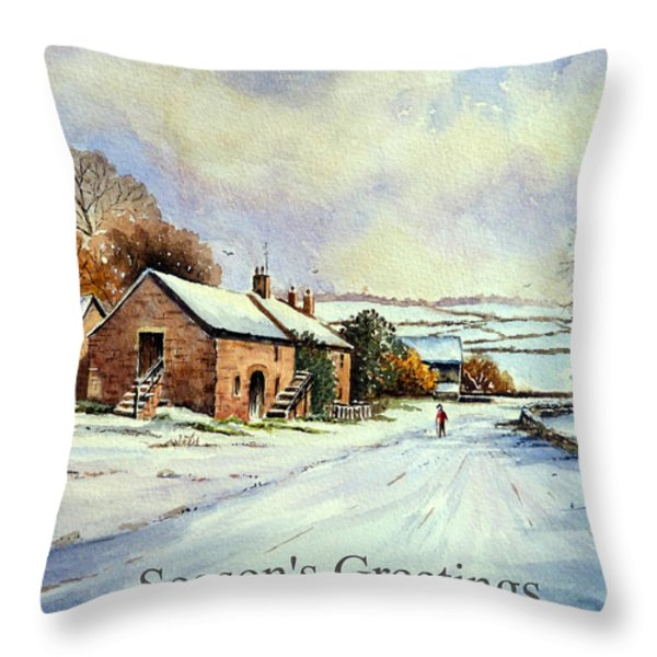 Early morning snow Christmas cards Throw Pillow by Andrew Read