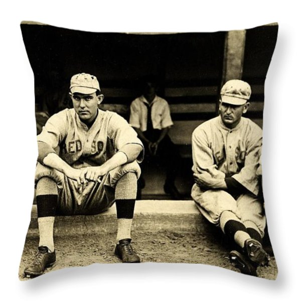 Early Red Sox Throw Pillow by Benjamin Yeager