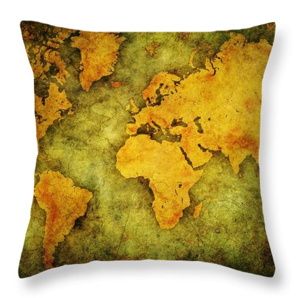 Earth And Brine Throw Pillow by Brett Pfister