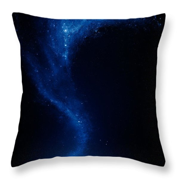 Earth and moon interconnected Throw Pillow by Johan Swanepoel