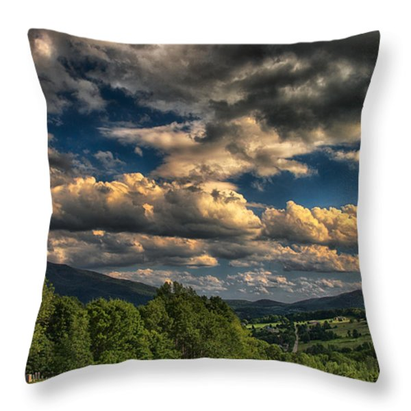 Earth Bending At Mt. Ascutney Throw Pillow by Nathan Larson