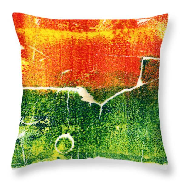 Earth Home With View Throw Pillow by Nadia Korths