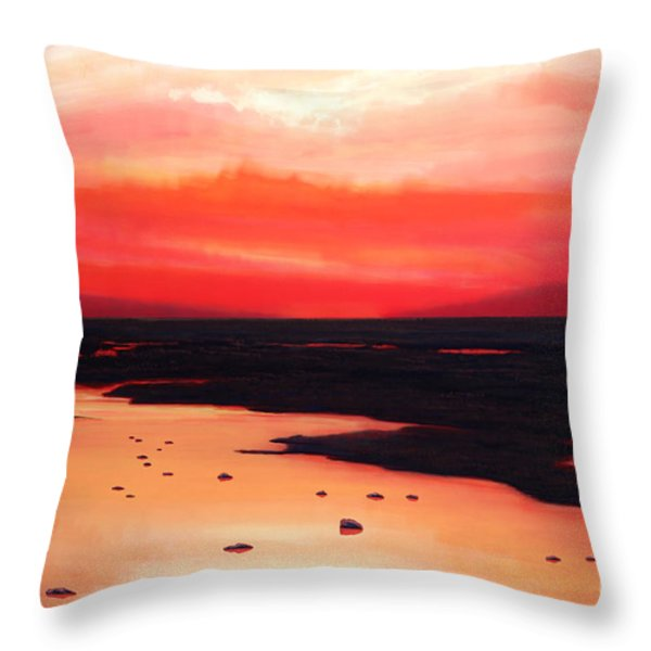 Earth Swamp Throw Pillow by Paul Meijering