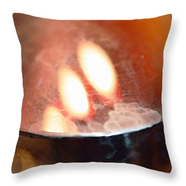 Earth Tone Art - Warmth by Sharon Cummings Throw Pillow by Sharon Cummings