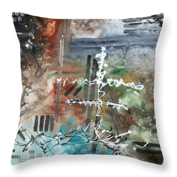 Earth Wind and Fire Abstract Painting MADART Throw Pillow by Megan Duncanson