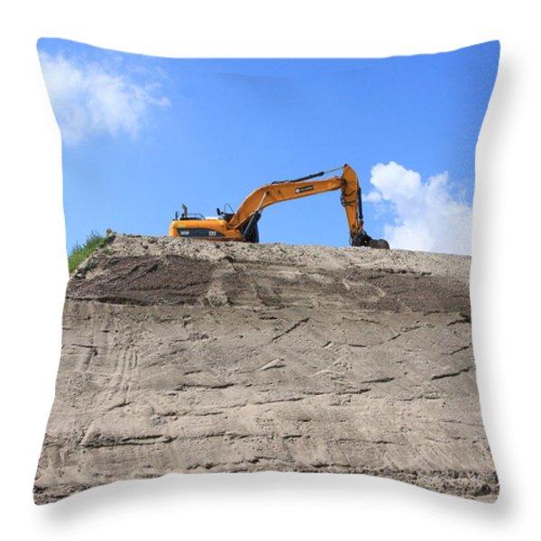 Earthmover Throw Pillow by Aidan Moran