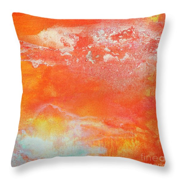 East End Sunset Throw Pillow by Anahi DeCanio