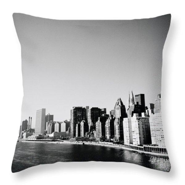 East River New York Throw Pillow by Shaun Higson