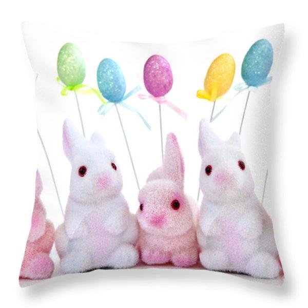 Easter Bunny Toys Throw Pillow by Elena Elisseeva