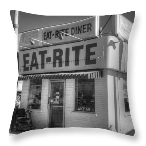 Eat Rite Diner Throw Pillow by Jane Linders