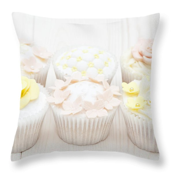 Eat With Your Eyes Throw Pillow by Anne Gilbert