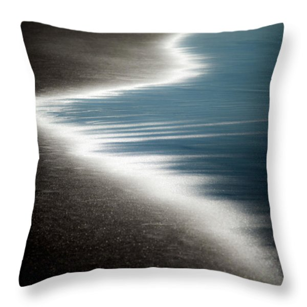 Ebb and Flow Throw Pillow by Dave Bowman