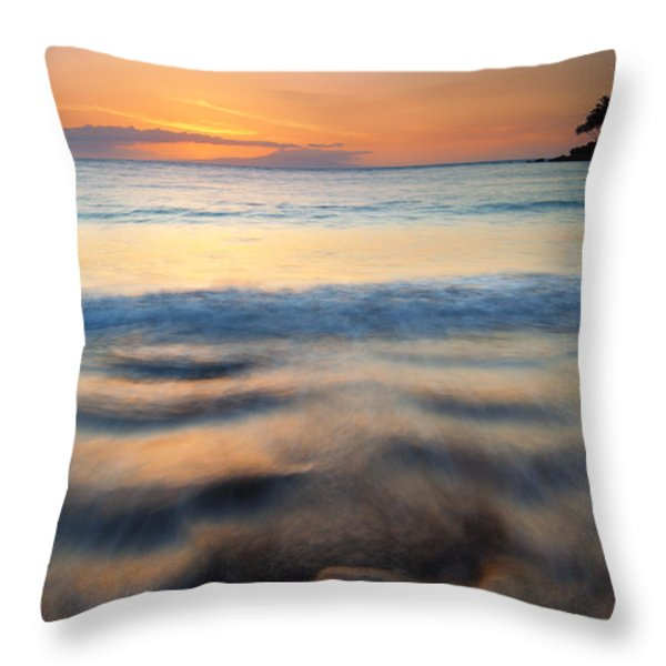 Ebb Throw Pillow by Mike  Dawson