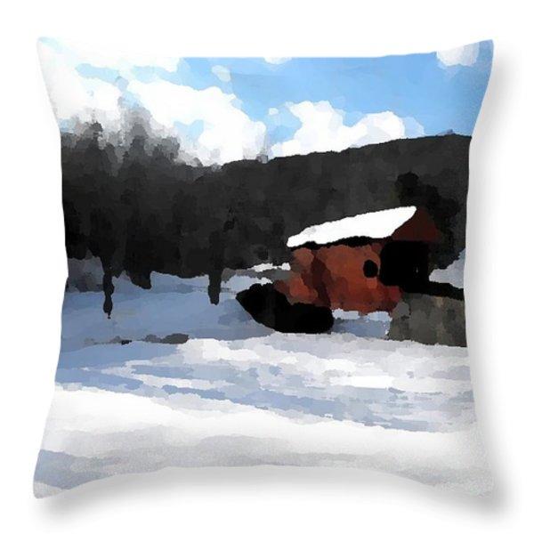 Ebenezer Bridge in Winter Throw Pillow by Spencer McKain