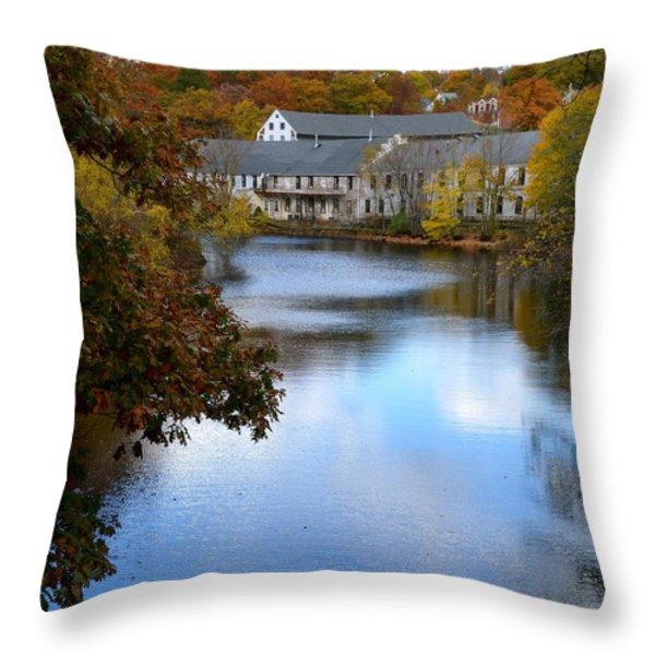 Echo Bridge Throw Pillow by Corinne Rhode