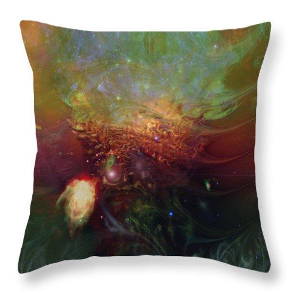 Echoes Throw Pillow by Linda Sannuti
