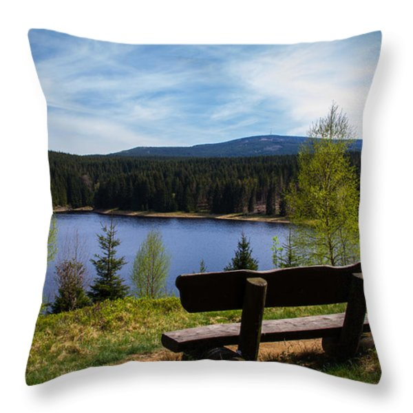Ecker-talsperre Throw Pillow by Andreas Levi