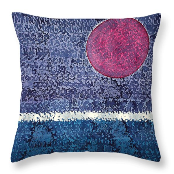 Eclipse Original Painting Throw Pillow by Sol Luckman