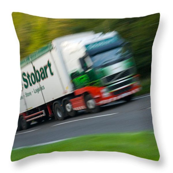 Eddie Stobart Lorry Throw Pillow by Amanda And Christopher Elwell