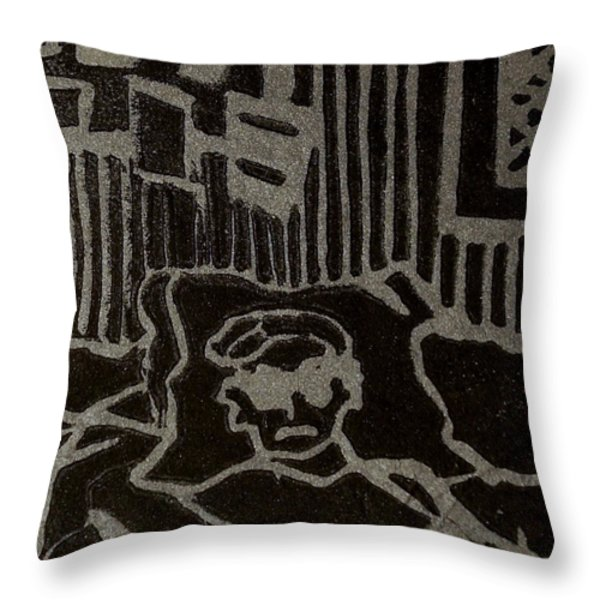 Edgar Throw Pillow by Erika Chamberlin