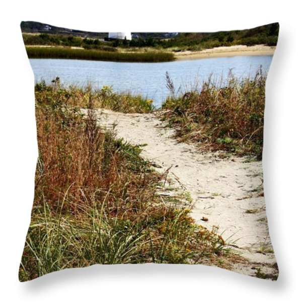 Edgartown Lighthouse Throw Pillow by Carol Groenen