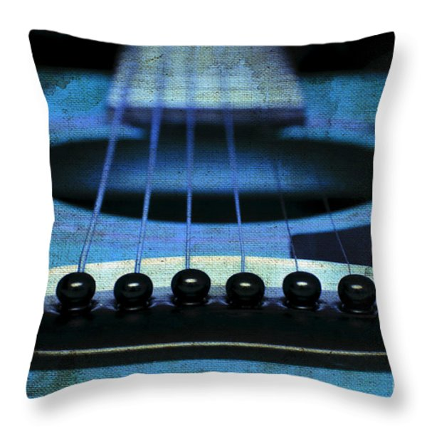 Edgy Abstract Eclectic Guitar 17 Throw Pillow by Andee Design