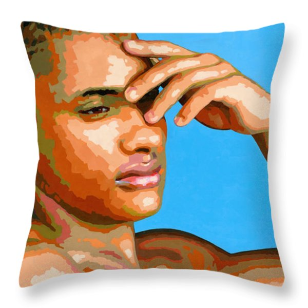 Eduardo na Luz Throw Pillow by Douglas Simonson