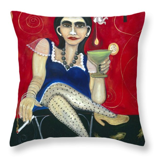 Egg Martini Throw Pillow by Jennifer Taylor