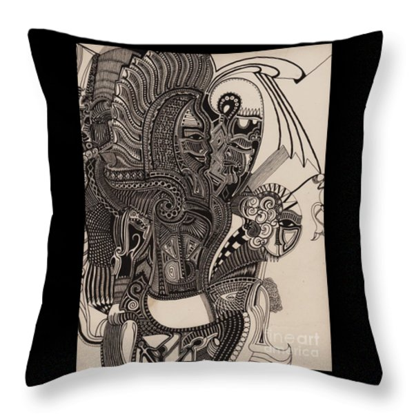 Egypt Walking Throw Pillow by Michael Kulick