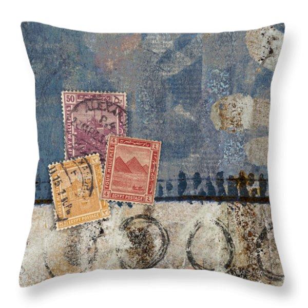 Egyptian Skies Throw Pillow by Carol Leigh