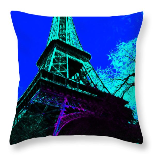 Eiffel 20130115v4 Throw Pillow by Wingsdomain Art and Photography