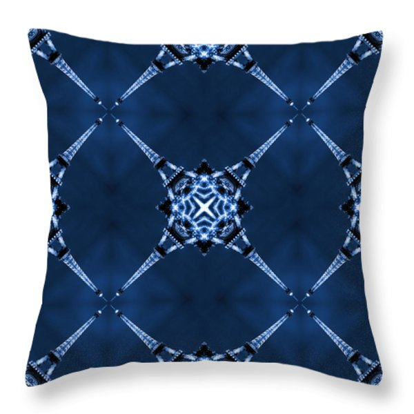 Eiffel Art 14 Throw Pillow by Mike McGlothlen