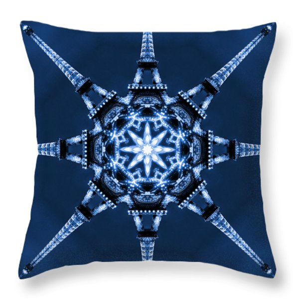 Eiffel Art 5 Throw Pillow by Mike McGlothlen