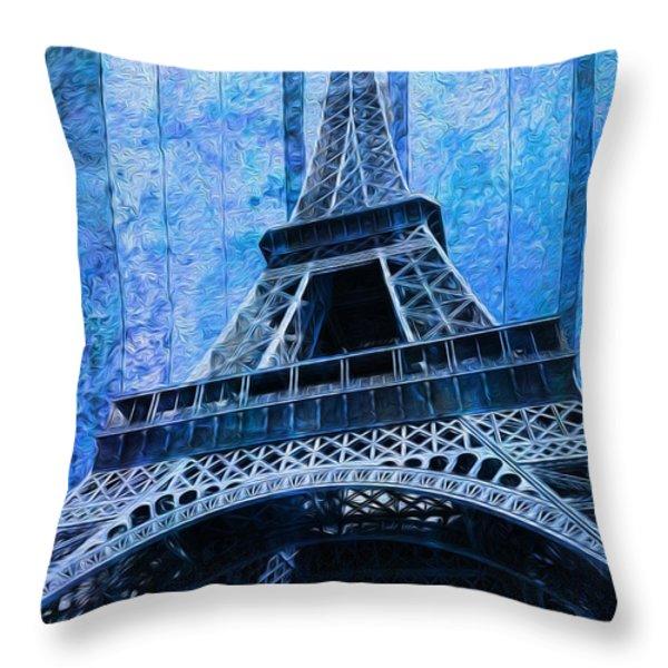 Eiffel Tower 2 Throw Pillow by Jack Zulli